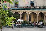 Cuba, la Havane. El Patio, Casa del Marques de Aguas Claras, Plaza de la Catedral, la Havane