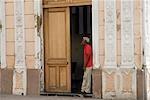 Cuba,Cienfuegos. The back streets of Cienfuegos