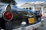 Cuba,Cienfuegos. Vintage American car,Jose Marti Plaza,Cienfuegos