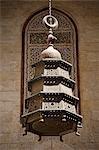 Détail de la Médersa et la tombe du Sultan Barquq, un des complexes de mamelouk impressionnante du XIVe siècle au Caire islamique