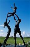 The Tresco Children Statue in the Abbey Gardens