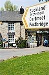 Moorland signposts in Widecombe-in-the-Moor,Dartmoor