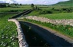 England,Derbyshire,Peak District. Rural road running through the Peak District National Park.
