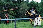 England, Leicestershire, Belvoir Castle. Ein Turnier Turnier bei den englischen Herrenhaus von Belvoir Castle.