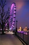 England,London. The London Eye also known as the Millennium Wheel.