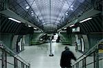 England, London. U-Bahnstation London Bridge.
