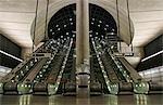 England,London. Canary Wharf Tube Station.