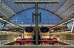 England, London, St. Pancras. Bahnhof St. Pancras International.
