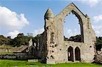 Shrewsbury Shropshire, Angleterre. Ruines de Haughmond Abbey, un 12ème siècle Augistinian abbaye près de Shrewbury.