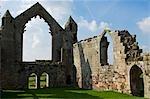 Shrewsbury Shropshire, Angleterre. Ruines de l'abbé Hall de Haughmond Abbey, un 12ème siècle Augistinian abbaye près de Shrewbury.