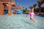 United Arab Emirates,Dubai,The Atlantis Palm Hotel. The 'Splashers Children Play Area' of Aquaventures Water Park.