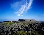 Ruines d'un fort sur le paysage, Dun Aengus Fort, Inishmore, îles d'Aran, comté de Galway, Irlande
