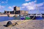 Carrickfergus Castle, and Harbour, Co Antrim, Ireland