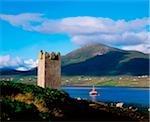 Château de Carrickkildavnet, Achill Island, Co Mayo, Irlande