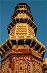 Mausolée de Jehangir. Construit en 1637 AD par son fils, Shah Jahan, le tombeau de marbre et de grès de l'empereur moghol est décoré de pietra dura.