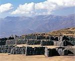 Massive walls of Sacsayhuaman overlooking Cusco.