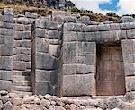 Inca stonework with classic Trapezoidal niche stairway