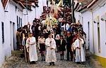 Portugal,Alentejo,Castelo de Vide. Traditional Easter Parade.