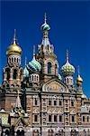 Russland, St. Petersburg. Die Kirche auf Verschüttetes Blut.