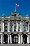 Russie, Saint-Pétersbourg. Entrée principale du Musée de l'ermitage Saint ou le palais d'hiver.