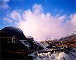 Applecross Waterfall with Sgurr a'Charachain,Ben.