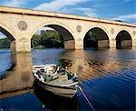 Pont de Coldstream marque la frontière entre l'Écosse et l'Angleterre.