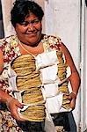 Local Woman carrying taco shells,Merida,Yucatan State