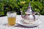 Mint tea,Morocco's favourite drink.