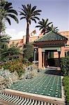 Entrée à la Mamounia, le plus célèbre hôtel à Marrakech.