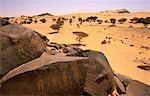 Niger, Tenere-Wüste. Felszeichnungen vermutlich 30.000 Jahre alt, gefunden nahe der Oase des Tezizet.