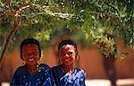 Niger,Timia Oasis. Two Tuareg Children in the Oasis village of Timia.