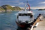 Norvège, Nordland, Helgeland, île de Rodoy. L'île traversier cela liens les îles de l'archipel de Helgeland au continent