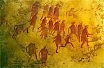 Beispiel Felszeichnungen gefunden in der südlichen Sahara, Libyen, derzeit im Museum von Tripoli, Tripolis, Libyen.