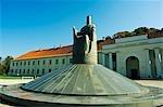 Lithuania,Vilnius. National museum monument of King Mindaugas - part of Vilnius Unesco World Heritage Site.