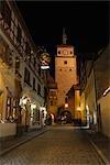The White Tower at Night, Rothenburg ob der Tauber, Bavaria, Germany