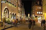 Christmas, Rothenburg ob der Tauber, Bavaria, Germany