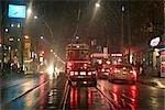 Tramway à l'Intersection de la rue Dundas et Spadina Avenue, Chinatown, Toronto, Ontario, Canada