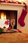 Tartlet, wine and card for Santa