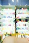 Shoe store, blurre