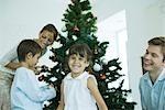 Décoration d'arbre de Noël de famille