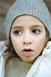 Mädchen tragen Winterkleidung, Nahaufnahme, Porträt
