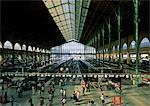 Interior of train station, Paris, France