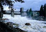 Finlande, barrage de