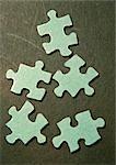Puzzle pieces, close-up