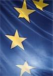 Drapeau européen, vue partielle, gros plan
