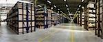 Interior of warehouse, wide shot