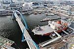 Port de Nagoya, préfecture d'Aichi, la région du Chubu, Honshu, Japon