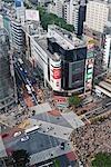 Intersection, Shibuya District, Tokyo, Kanto Region, Honshu, Japan