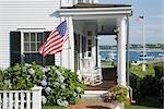House on Water Street in Edgartown, Martha's Vineyard, Massachusetts, USA