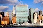 ONU bâtiment et gratte-ciels à new york